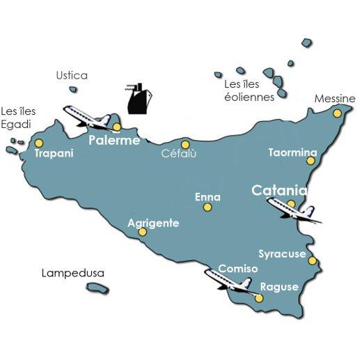 Carte Sicile Aeroport.Comment Aller En Sicile Les Transports Vols Avion Et